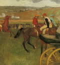 degas edgar at the races gentlemen jockeys c1877