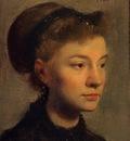 Degas Edgar Head of a Young Woman