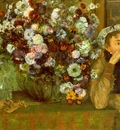 Madame Valpincon with Chrysanthemums CGF
