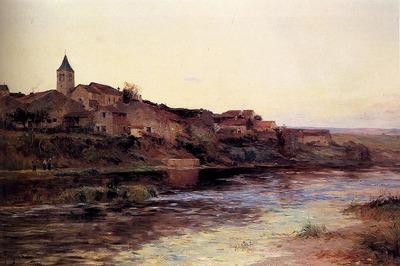 Petitjean Edmond A French River Town