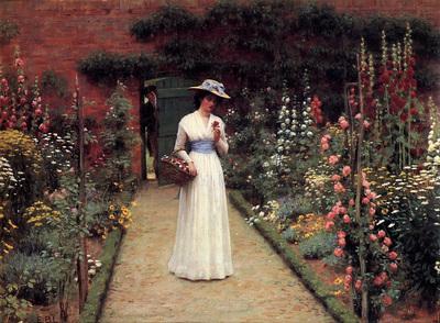 Leighton Edmund Blair Lady in a Garden