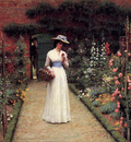 Leighton Edmund Blair Lady in a Garden
