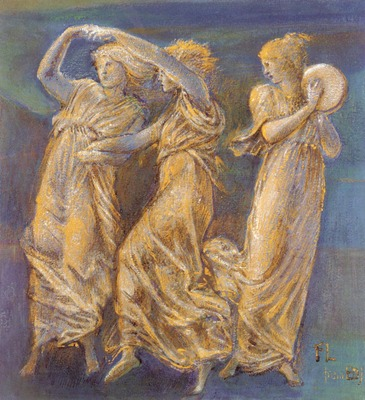 Burne%20Jones Sir Edward Coley Three%20Female Figures Dancing And Playing