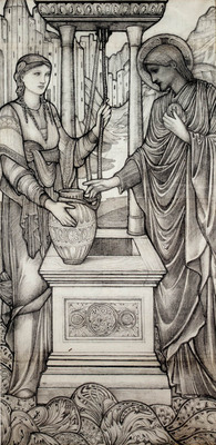 Burne Jones Sir Edward Coley Chrsit And The Well