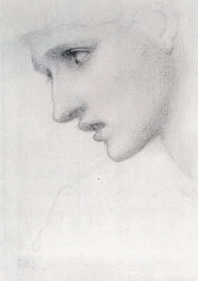 Burne Jones Sir Edward Coley Profile To The Left