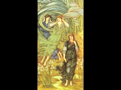 BURNE JONES Edward Sponsa de Libano detail Walker Art Gallery Liverpool