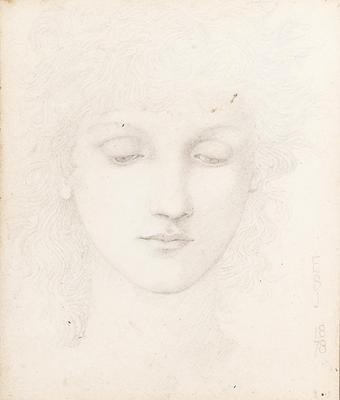 Burne Jones Edward Coley Head of a Girl