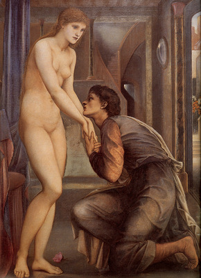 Burne Jones Pygmalion and the Image IV The Soul Attains detail
