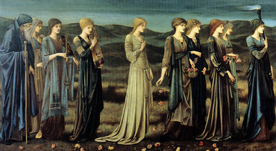 burne jones the wedding of psyche