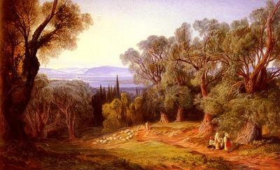 Lear Edward Corfu And The Albanian Mountains