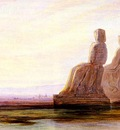 Lear Edward The Plain Of Thebes With Two Colossi