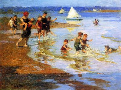 Pothast Edward Children at Play on the Beach
