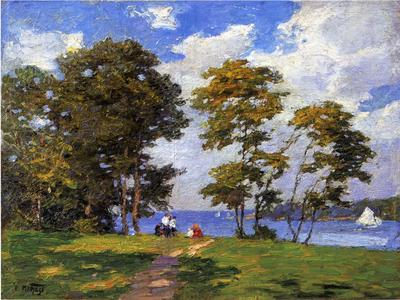 Pothast Edward Landscape by the Shore aka The Picnic