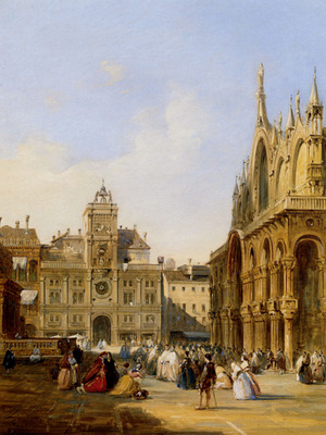 Pritchett Edward A View Of St Marks Square