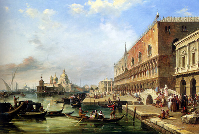 Pritchett Edward The bacino Venice Looking Towards The Grand Canal