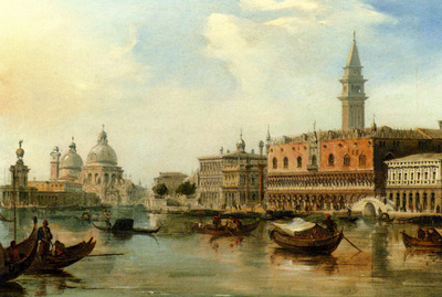 Pritchett Edward The bacino Venice With The Dogana The salute And The Doges Palace