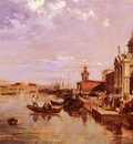 Pritchett Edward A View Of The San Giorgio Church And The Grand Canal