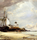 cooke edward William The Pier And bay Of St Ives Cornwall