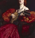 Abbey Edwin Austin A Lute Player