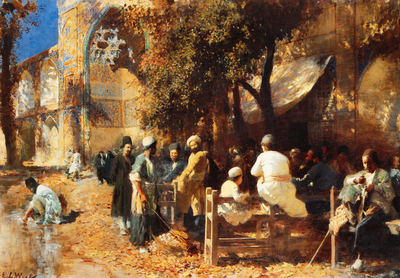 Weeks Edwin Lord A Persian Cafe