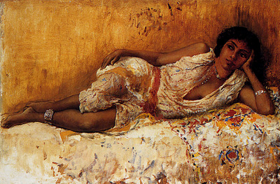 Weeks Edwin Lord Moorish Girl Lying On A Couch