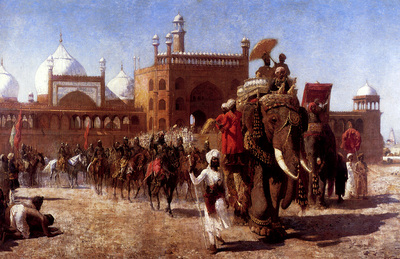 Weeks Edwin The Return Of The Imperial Court From The Great Mosque At Delhi
