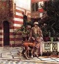 Weeks Edwin Lord Girl in a Moorish Courtyard