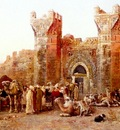 Weeks Edwin Lord The Departure Of A Caravan From The Gate Of Shelah Morocco