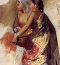 Weeks Edwin Sketch Two Nautch Girls