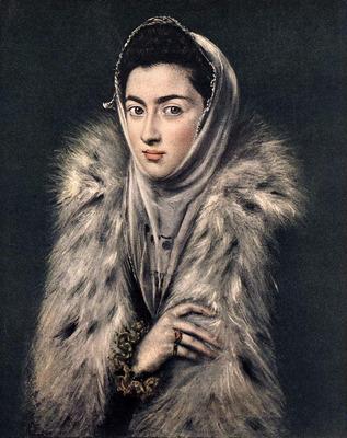 el greco lady with a fur 1577