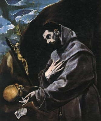 el greco st francis praying 1580