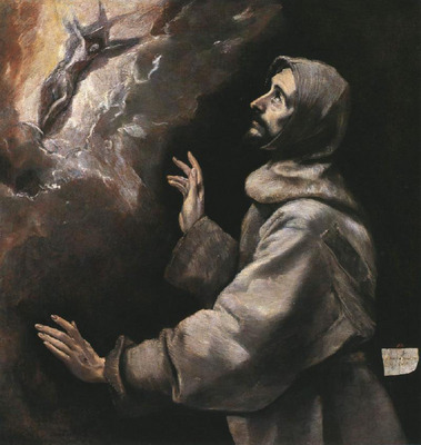 el greco st  francis receiving the stigmata 1577