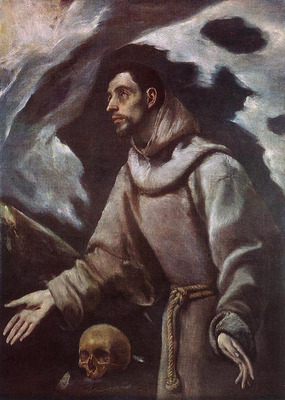 El Greco The Ecstasy of St Francis c1580