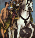 El Greco St  Martin and the Beggar