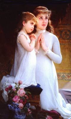 Munier 2 girls praying