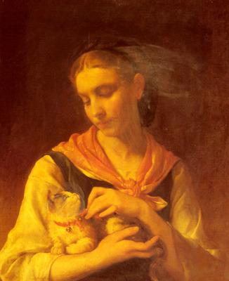 Munier Emile The Favorite Kitten