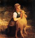 Munier Young Girl with Lamb