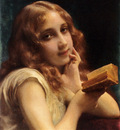 Piot Etienne Adolphe A Little Girl Reading