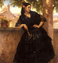 Giraud Eugene Pierre Francois A Spanish Beauty With A Fan