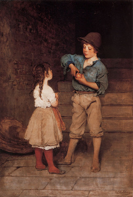 Blaas Eugen von Two Children