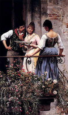 Blaas Eugene De On The Balcony