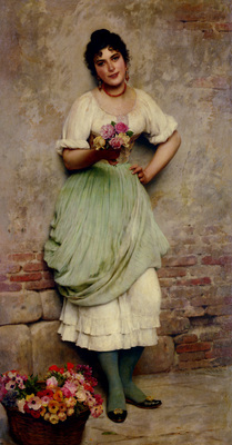 Blaas Eugene De The Flower Seller
