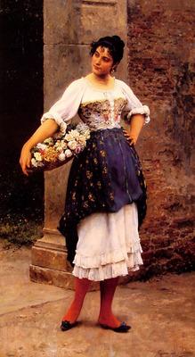 Venetian flower seller