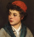 Blaas Eugen von Portrait of a Boy