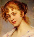 Blass Eugen Von A Portrait Of A Young Lady