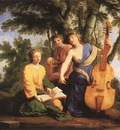 LE SUEUR Eustache The Muses Melpomene Erato And Polymnia