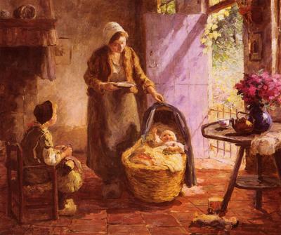 Pieters Evert Feeding The Baby
