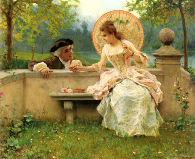 Andreotti Federico A Tender Moment In The Garden