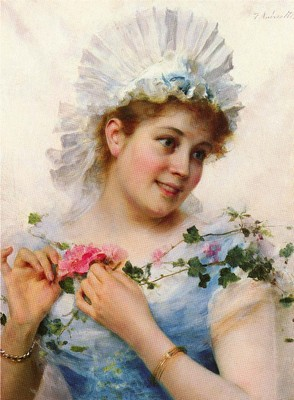 Andreotti Federico A Young Girl With Roses
