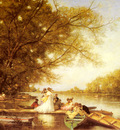 Heilbuth Ferdinand Boating Party On The Thames